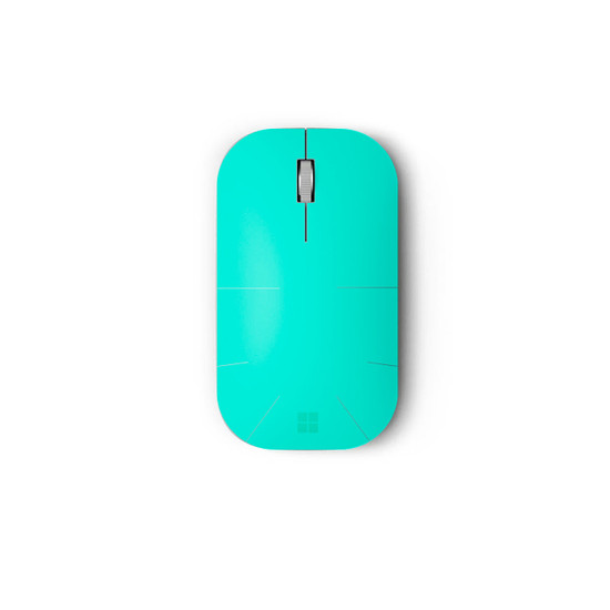 Happy Turquoise Surface Mobile Mouse Skin