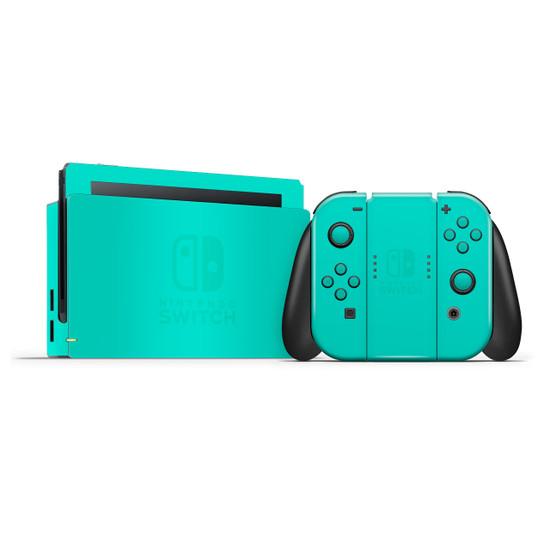 Happy Turquoise Nintendo Switch Skins