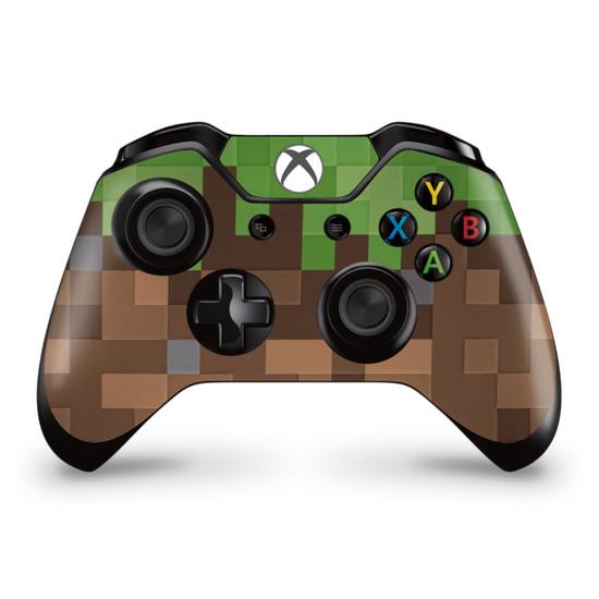 Pixel Grass Block Xbox One Controller Skin