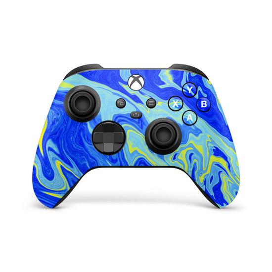 Azurite Marbled Xbox Series X | S Controller Skin