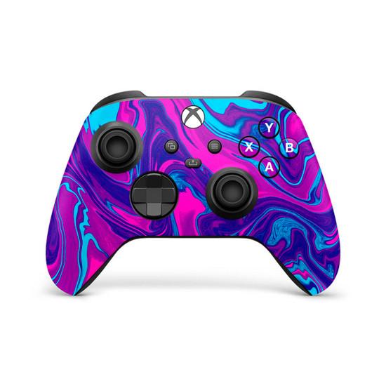 Neon Marbling Xbox Series X | S Controller Skin