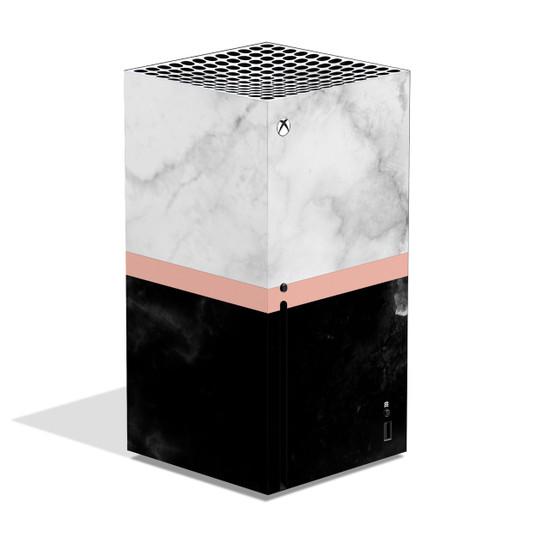 Black & White Marble Xbox Series X Skin