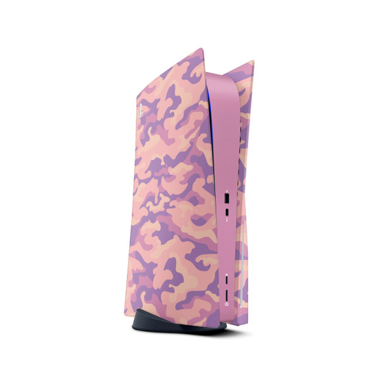 Peachy Camouflage Playstation 5 Console Skin