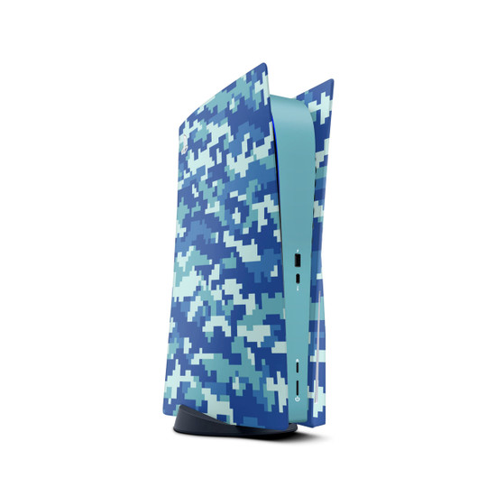 Sky Camouflage Playstation 5 Console Skin
