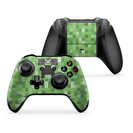 Pixel Creeper Xbox One X Controller  Minecraft Pixel Art