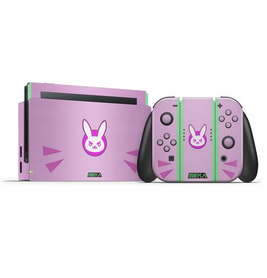 D.va Pink Overwatch Fan Art Nintendo Switch Skin Set