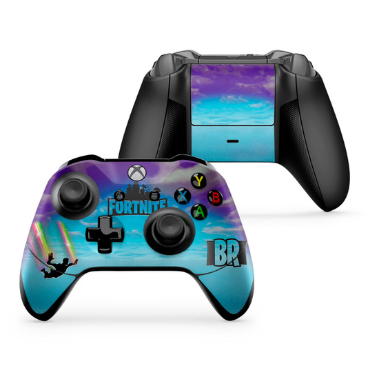 Stormy Sky Rainbow Trails Xbox One X/S Controller Skin Fortnite Fan Art