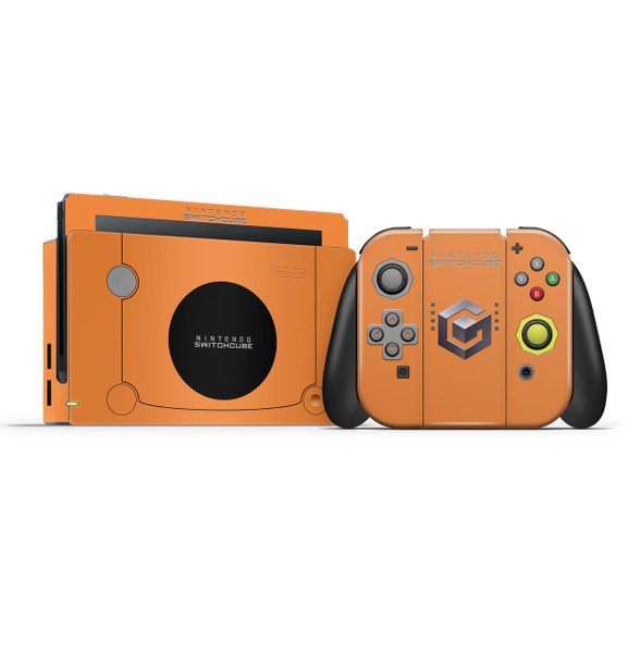 Gamecube Orange Nintendo Switch Skin Set