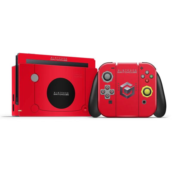 Gamecube Red Nintendo Switch Skin Set