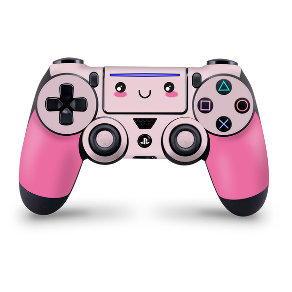 Cute Kawaii Face Pink Playstation 4 Slim/Pro Controller Skin