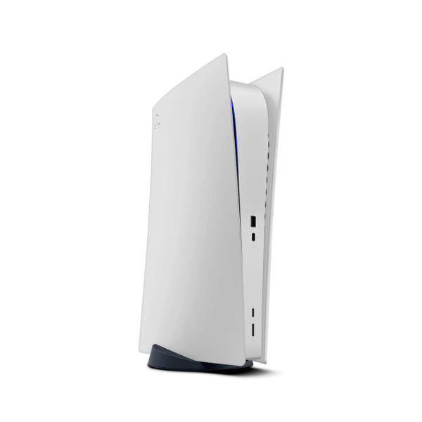 Pastel Silver Playstation 5 Digital Edition Console Skin