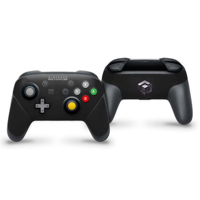 Gamecube V2 Black Nintendo Switch Pro Controller Skin