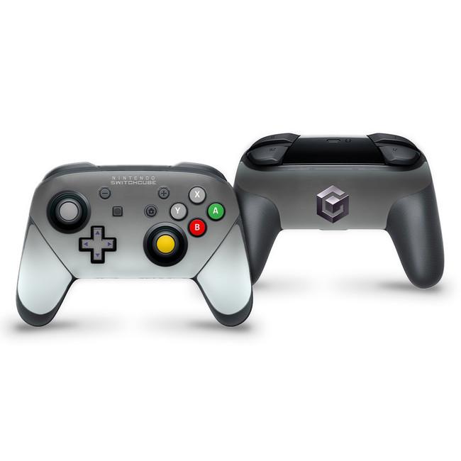 Gamecube V2 Silver Nintendo Switch Pro Controller Skin