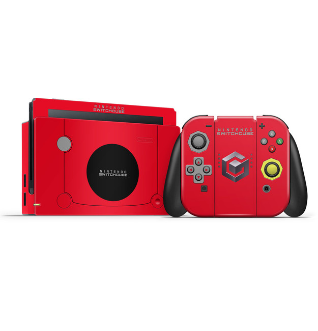 Gamecube Red Nintendo Switch Skin Set