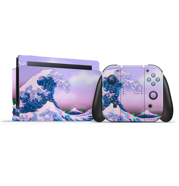 Glitchwave Nintendo Switch Skin Set