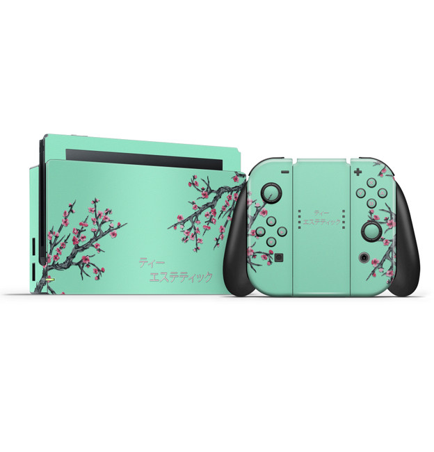 Tea Aesthetic Nintendo Switch Console, Joycons & Dock Skin