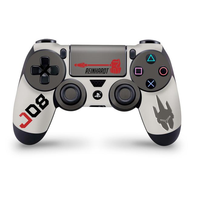 Reinhardt Playstation 4 Controller Skin Overwatch Fan Art