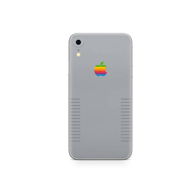 Retro Apple Grey iPhone XR Skin