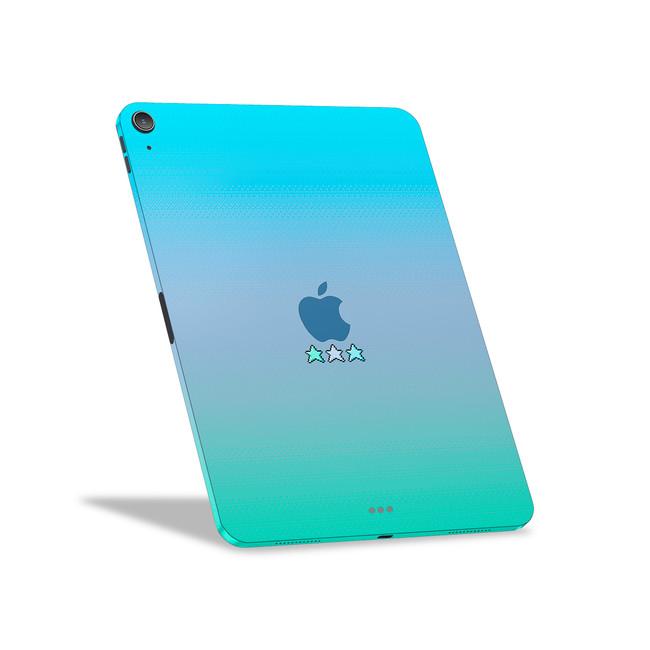 8-Bit Blue & Green Stars Apple iPad Air [4th Gen] Skin