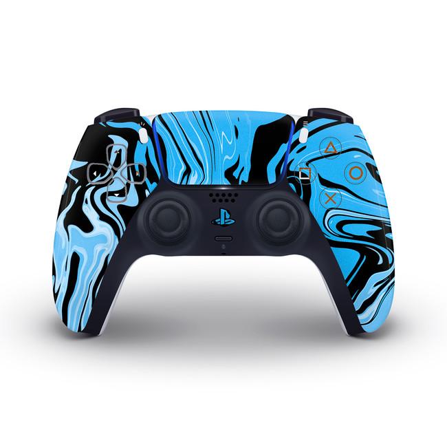 Blue Marbling Playstation 5 Controller Skin