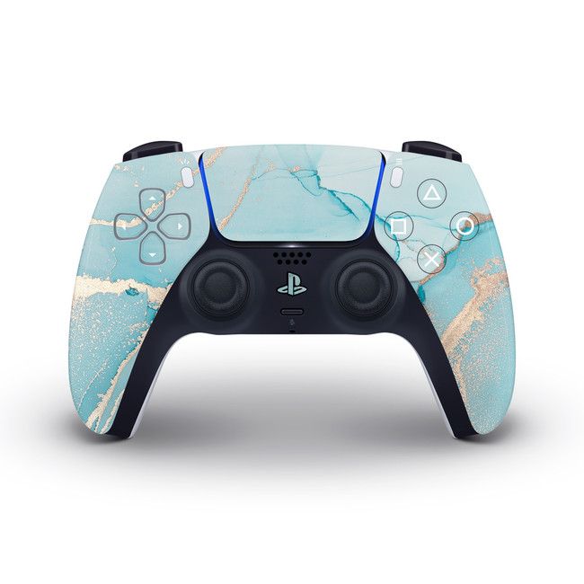 Ice Gold Marble Playstation 5 Controller Skin