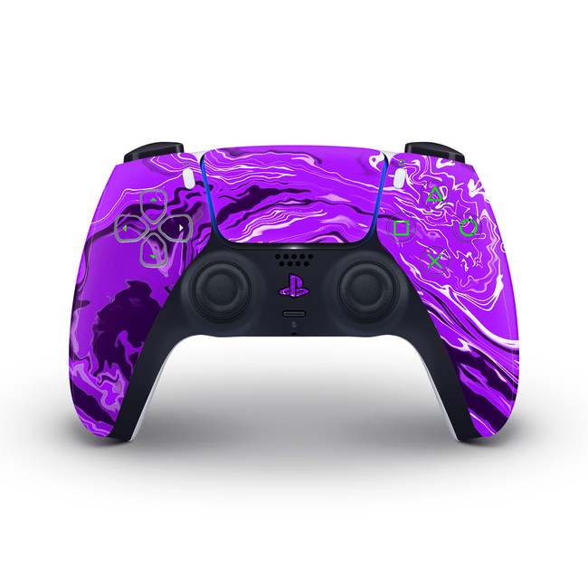 Purple Marbling PlayStation 5 Controller Skin