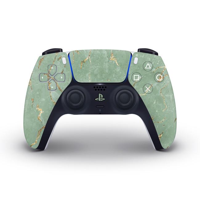 Sage Gold Marble Playstation 5 Controller Skin