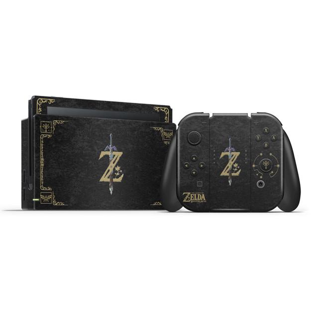 The Legend Of Zelda  Botw Black  Nintendo Switch Skin Set