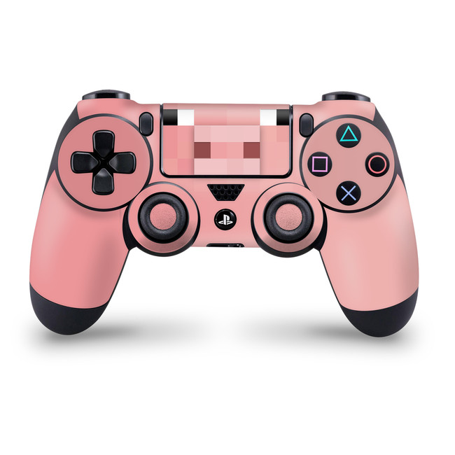 Pixel Pig Playstation 4 Controller Skin Minecraft Inspired Pixel Art