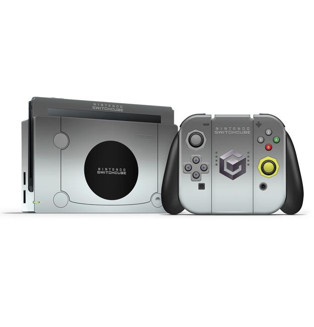 Gamecube Silver  Nintendo Switch Skin Set