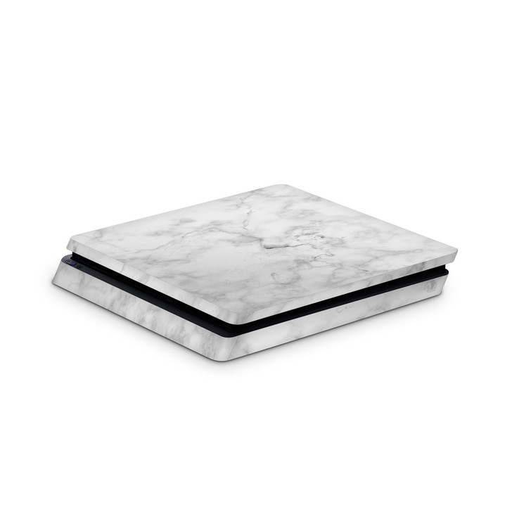 White Marble Playstation 4 Slim Console Skin