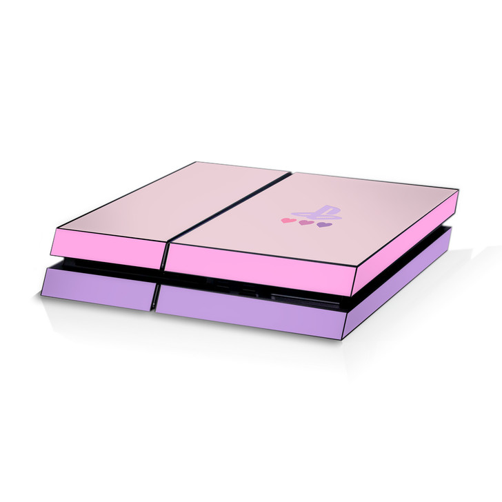 Pastel Pink & Purple Hearts Playstation 4  Console Skin