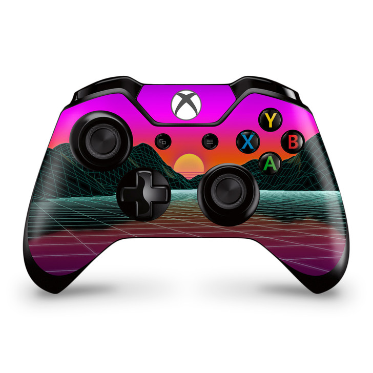 Outrun Mountain Sunset Xbox One Controller Skin
