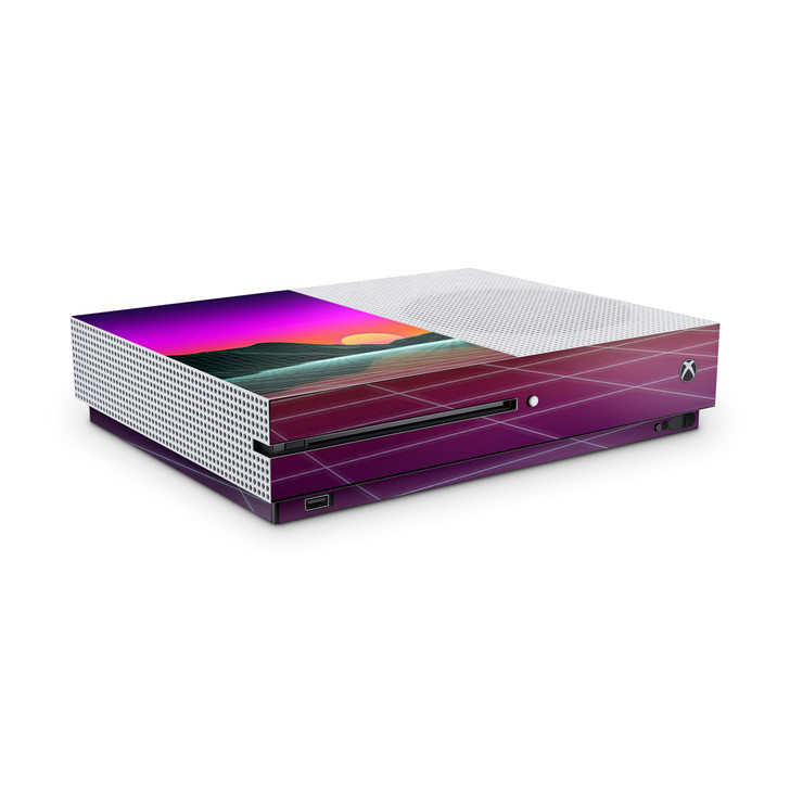 Outrun Mountain Sunset Xbox One S Console Skin