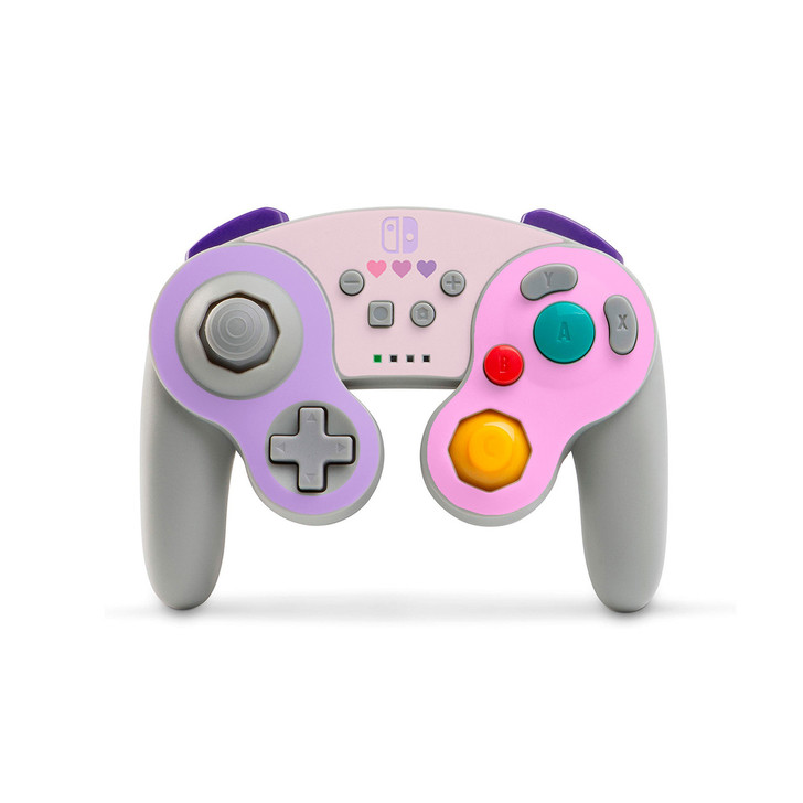 Pastel Pink & Purple Hearts Nintendo Switch GameCube  Controller Skin (PowerA)