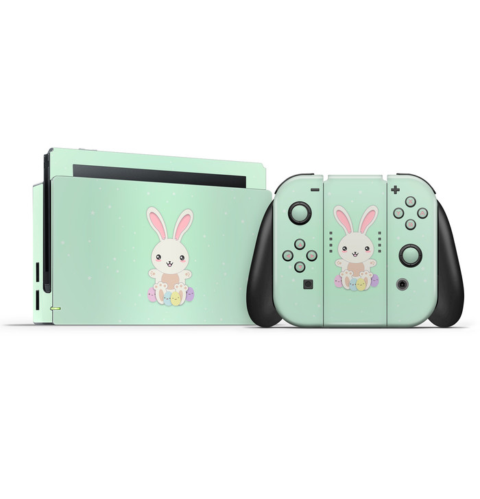 Easter Bunny Cosmic Latte Nintendo Switch Skin Set