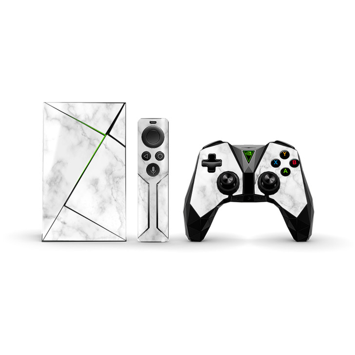 White Marble NVIDIA SHIELD TV Remote & Controller Skins