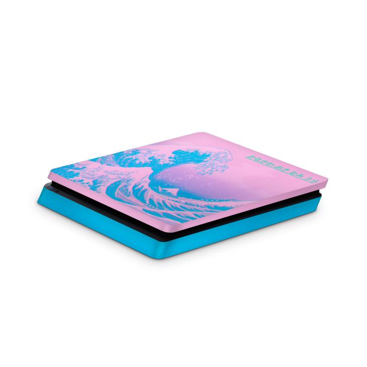 Kanagawave Playstation 4 Slim Console Skin