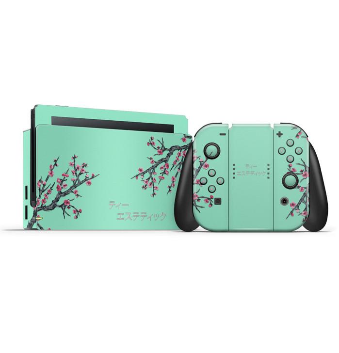 Tea Aesthetic Nintendo Switch Console, Joycons & Dock Skin