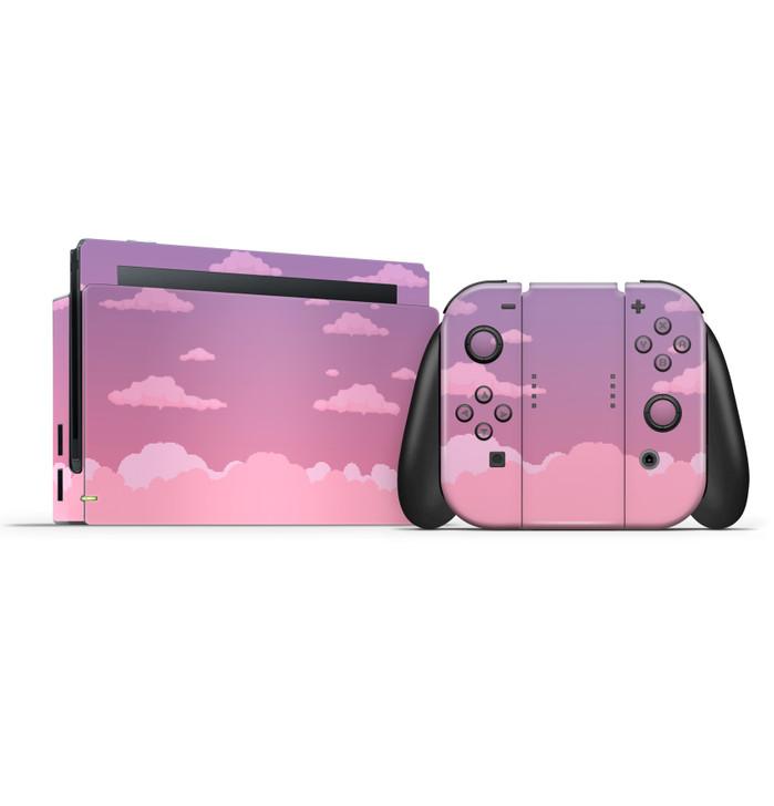 Dreamy 8-Bit Clouds Nintendo Switch Console, Joycons & Dock Skin