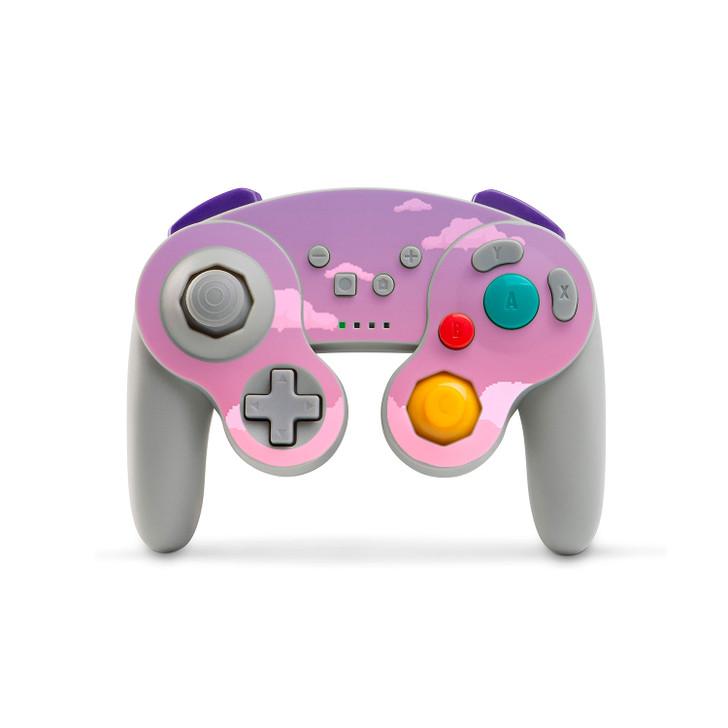 Dreamy 8-Bit Clouds Nintendo Switch GameCube Style Controller (PowerA) Skin