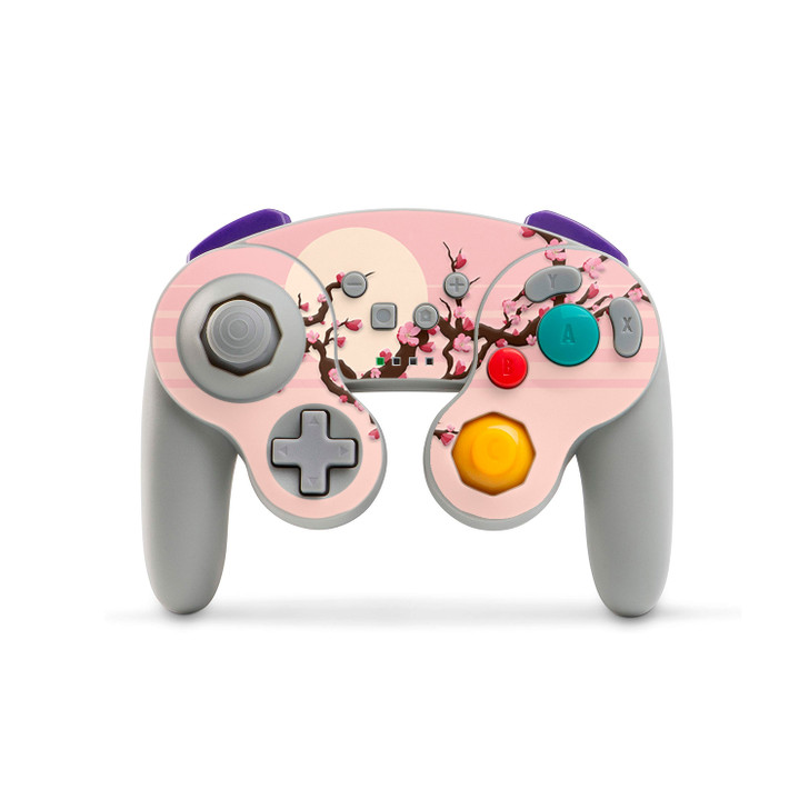 Lone Peach Blossom Nintendo Switch GameCube Style Controller (PowerA) Skin