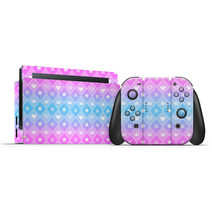 Nintendo Switch Dock & Switch Joycons & Grip KH Symbols Skin