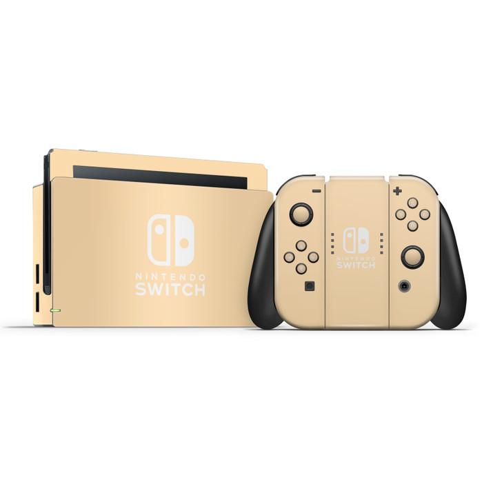 Nintendo Switch Dock & Switch Joycons & Grip Peach Skins