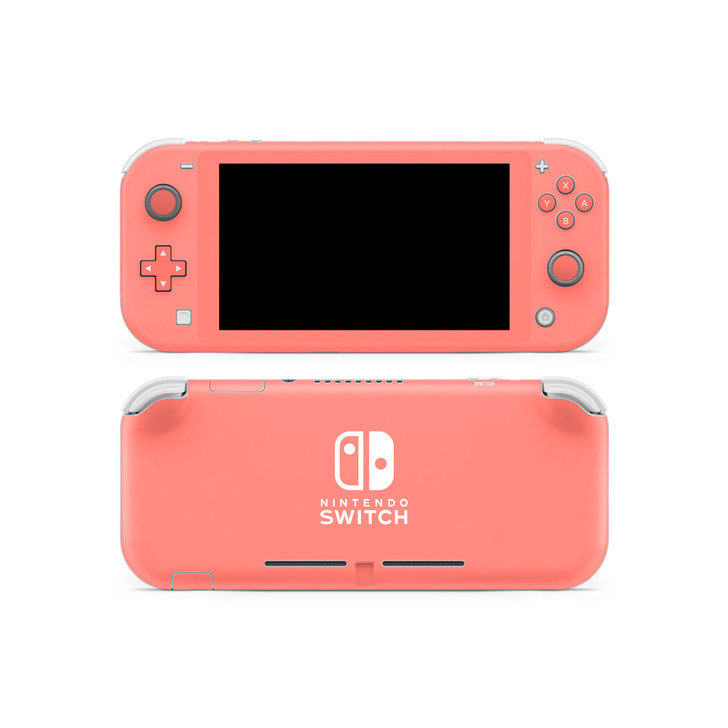 Coral Pink Nintendo Switch Lite Skin