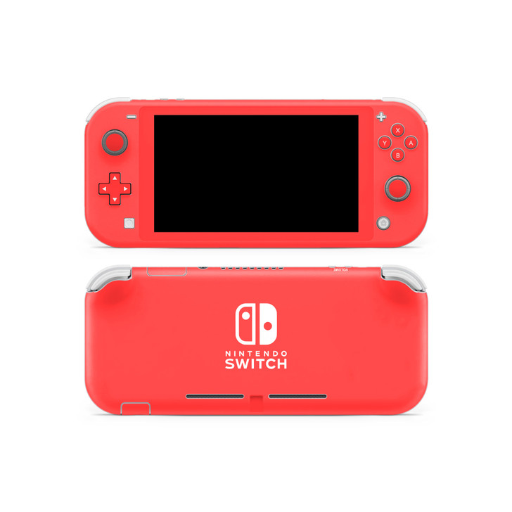 Coral Red Nintendo Switch Lite Skin