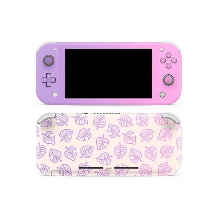 Nintendo Switch Lite AC Leaf Pattern Pink & Purple V2 Skin