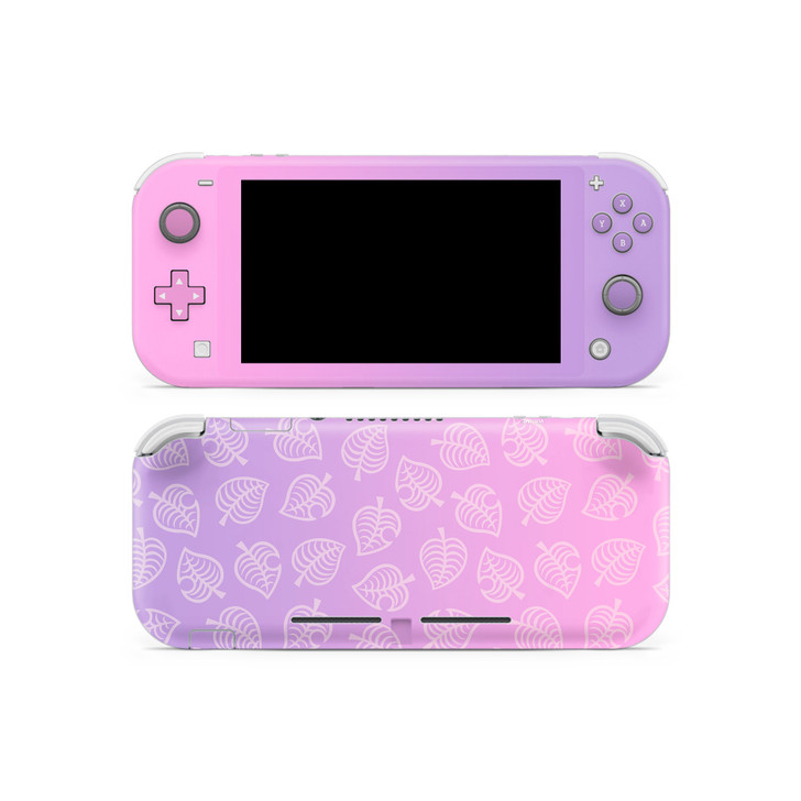 Nintendo Switch Lite AC Leaf Pattern Pink & Purple Skin