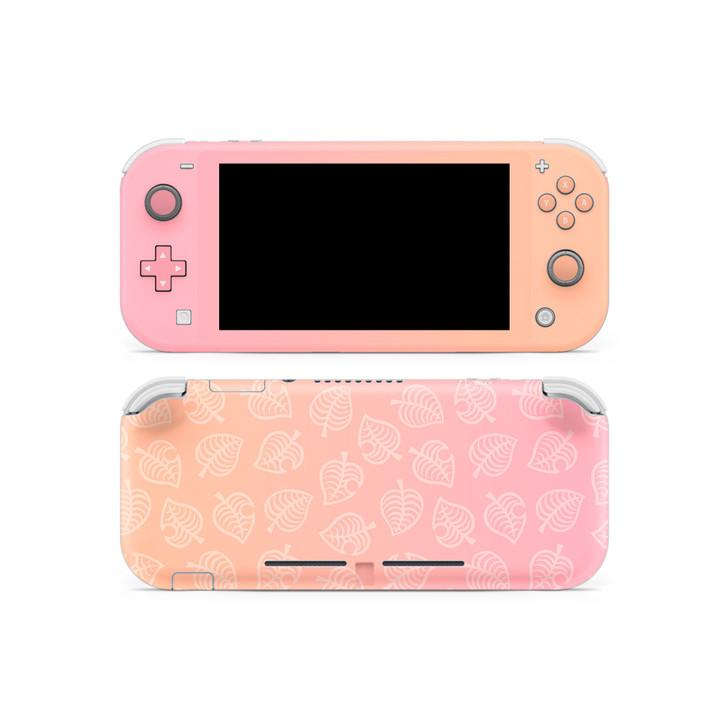 Nintendo Switch Lite AC Leaf Pattern Peachy Skin