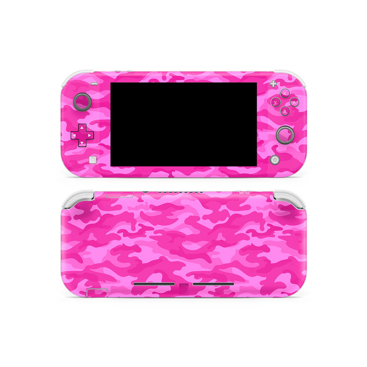 Hot Pink Camouflage Nintendo Switch Lite Skin